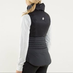 Lululemon Fluffin Awesome Vest Black Grey Size 10